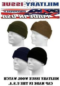 Genuine Military 100% Wool Watch Cap GSA Compliant Beanie Ca