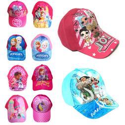 Girls Kids Sun Hats LOL My little pony Moana Frozen Cartoon