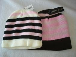girls knit hats one size lot of