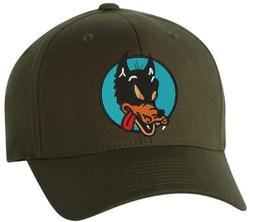 Grateful Dead Wolf Embroidered Flexfit Ball Cap Black, Navy