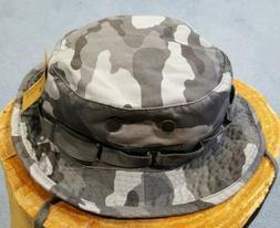 Rapid Dominance Gray Camo Military Boonie / Bucket Hat Mens
