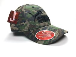 Puma Green Camouflage 6 Panel Design Ball Cap Hat Stretch Fi