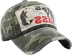 H-212-KMB84 Distressed Baseball Cap Vintage Womens Dad Hat -