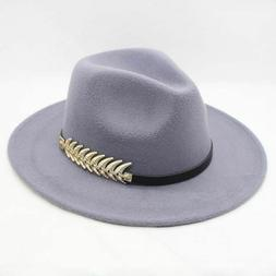 Hat For Women Men Winter Autumn Wide Brim Jazz Church Godfat