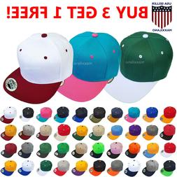 Snapback Hat Hip-Hop Baseball Cap Visor Two Tone One Size Ne