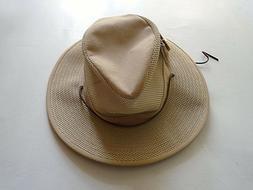 Henschel Hats Aussie Breezer Khaki Men's Sun Hat Size Large