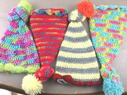 Hats Handmade BABY and NEWBORN Size Crocheted Colorful Hats