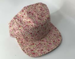 City Hunter Headwear Pink Floral 5 Panel Ballcap Cap Hat NY