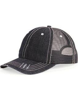 Mega Cap - Herringbone Unstructured Contrast Stitch Trucker