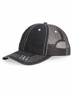 Mega Cap Herringbone Unstructured Contrast Stitch Trucker Ca