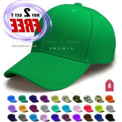 Plain Baseball Cap Solid Color Blank Army Hat Ball Men Women