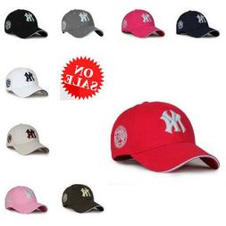 Black NY New York Yankees Hats Caps Mens Womens Baseball Cap
