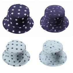Infant Baby Boy Girls Outdoor Bucket Hats Toddler Kids Sun B
