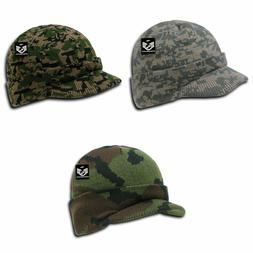 RapDom Cap Watch Hat Beanie Knit w/ Visor Military GI Camouf