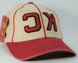 Kansa City Monarchs Negro League Cream/Red Hat American Need