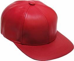 KBETHOS Genuine Leather Flat Bill Baseball Hat Cap - Made in
