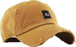 KBSV-071 Tim Lit Patch Vintage Distressed Dad Hat Baseball C