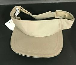 City Hunter Khaki Hat Summer Vintage Adjustable Visor