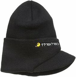 Carhartt Men's Knit Hat With Visor,Black,One Size