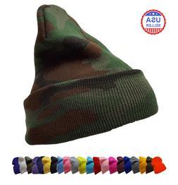 Knit Winter Warm Plain Ski Hat Beanie Unisex Men Women Skull