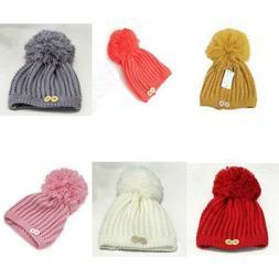 Knitted Hats For Girls Sweet Cap Big Winter Female Warm Butt