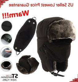 L&M Mens Winter Hat Trapper Aviator Russian Trooper Earflap