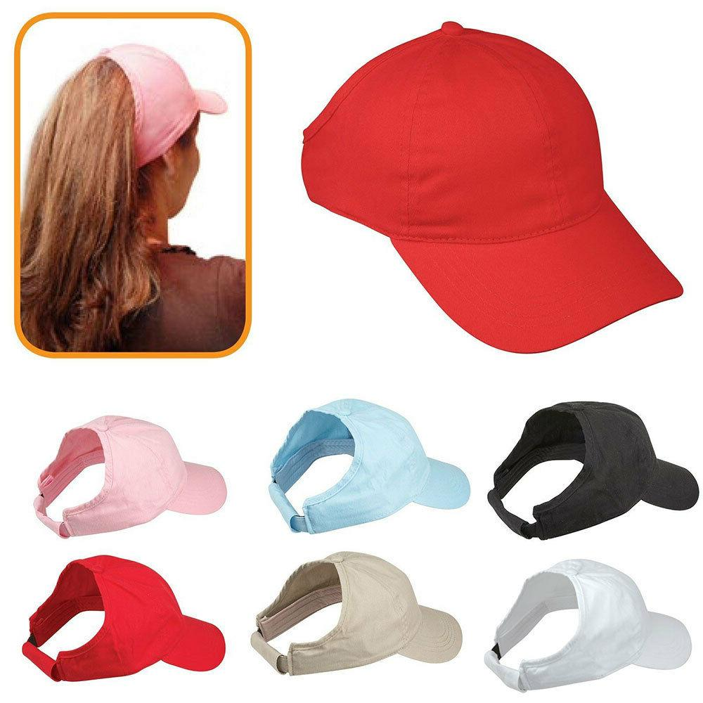 100 percent cotton ponytail visor baseball caps
