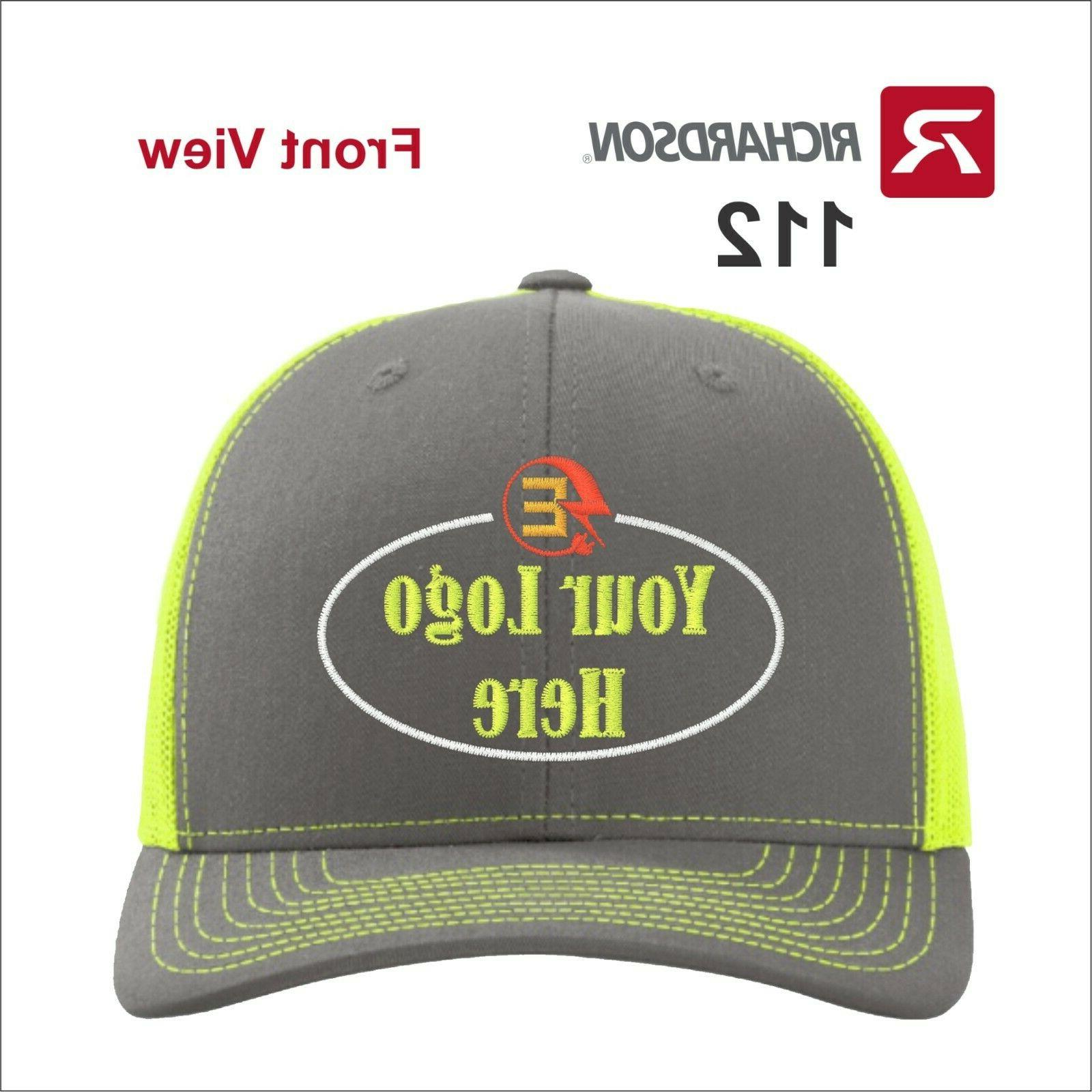 112 customized embroidered hats with your text