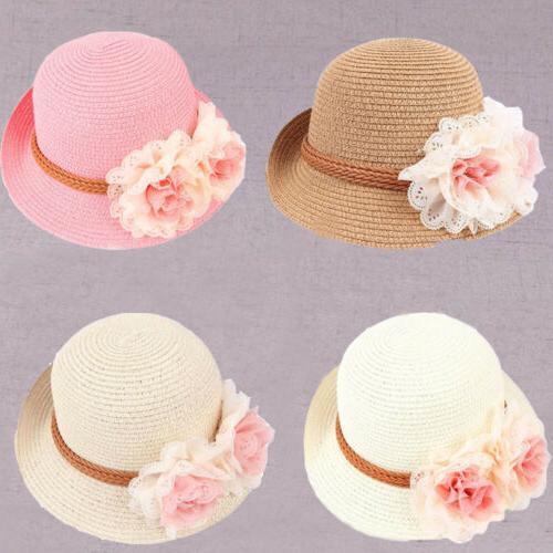 2019 summer baby girls embroidered hat beach