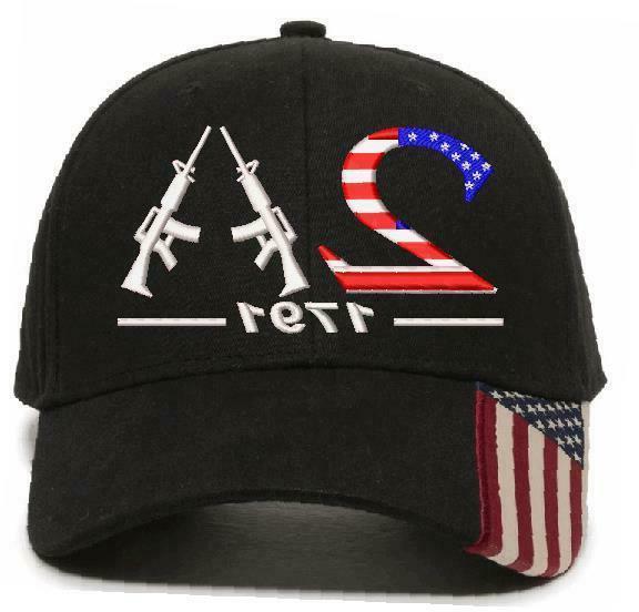2nd Amendment 1791 AK-47 USA Style 2 Embroidered Hat - Vario