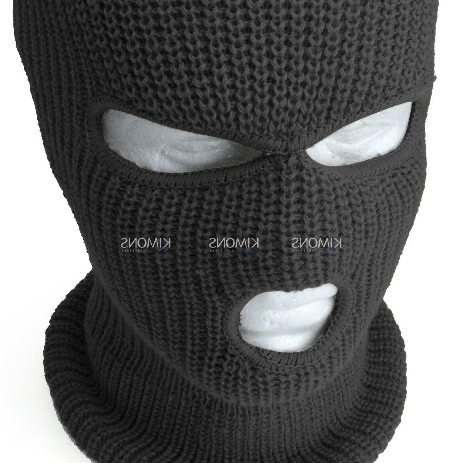 3 Hole Full Mask Cap Balaclava Outdoor Tactical