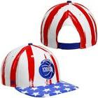 '47 Houston Rockets Red Log Cabin Stars and Stripes Snapback
