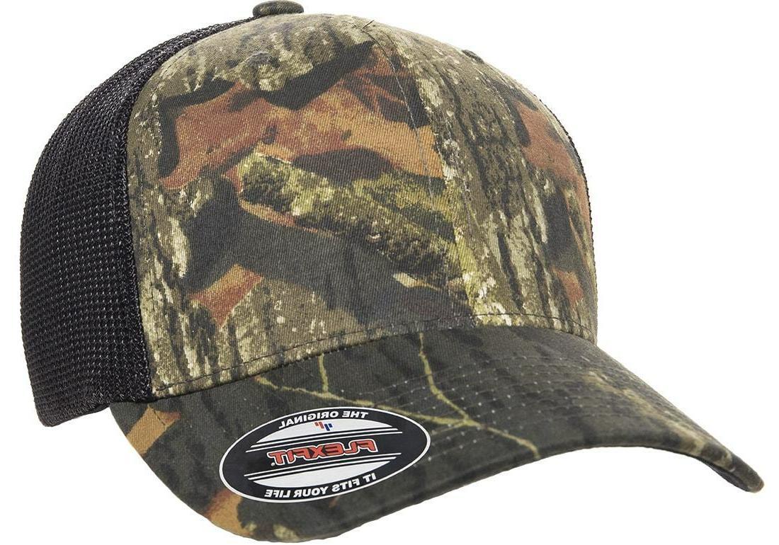 6911 flexfit mossy oak hat stretch mesh