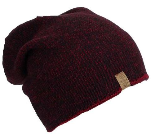 Angela &William Mens Multi-Color Rib Knit Slouch Winter Hat