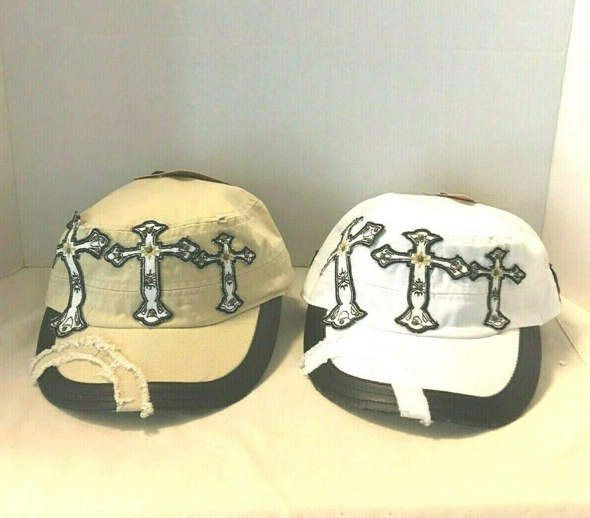 angela and william embroidered cross cadet hat