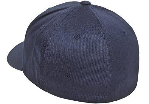 Flexfit Men's Baseball Fitted Cap, Navy, Small/Medium