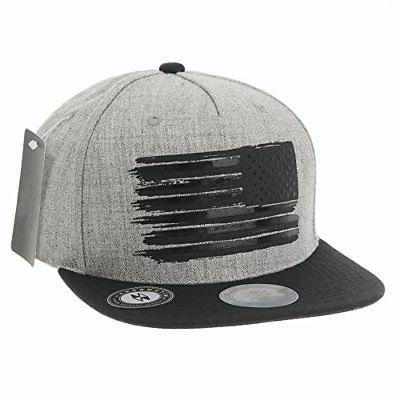WITHMOONS and Stripes Flag Hat KR2305 Grey,