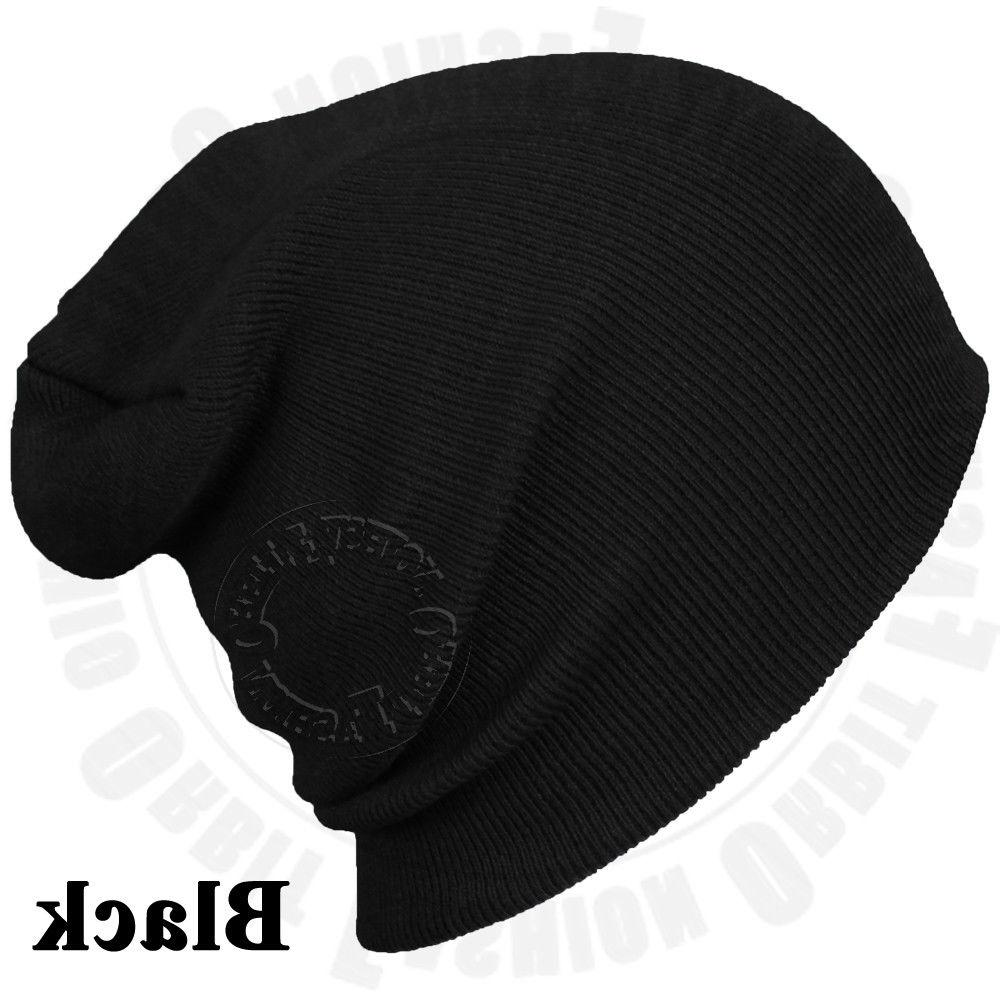 Beanie Plain Winter Cap Cuff Men