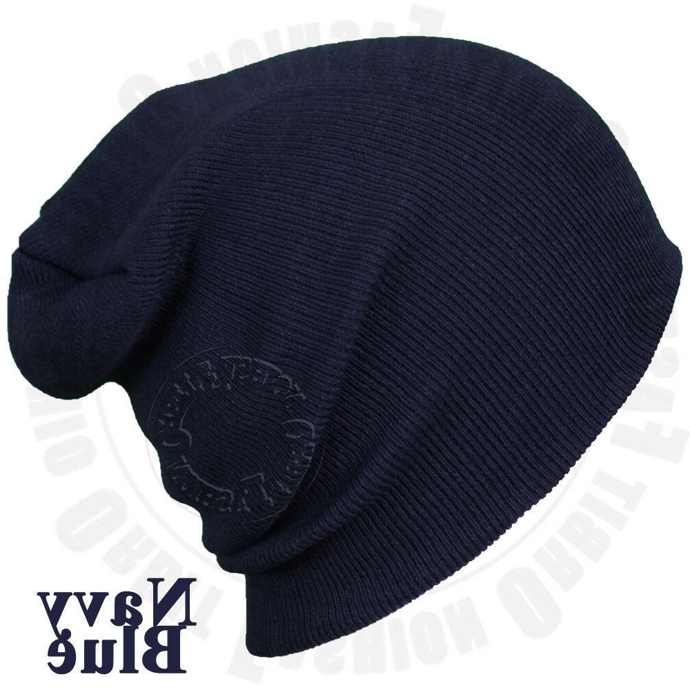 Beanie Knit Winter Cuff Slouchy Hats Men Women