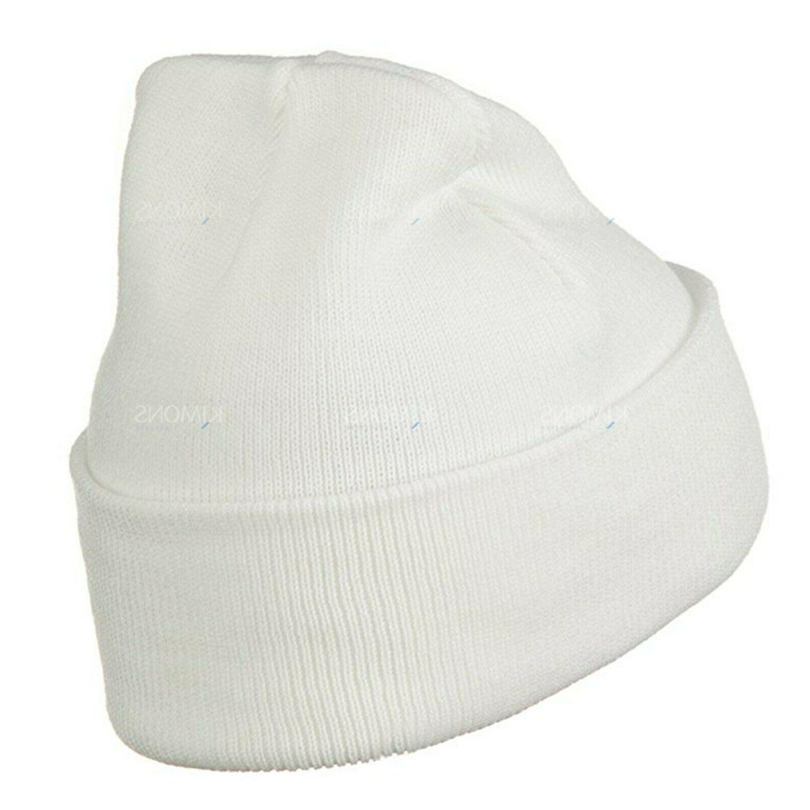Beanie Plain Winter Slouchy Skull Ski Warm Men