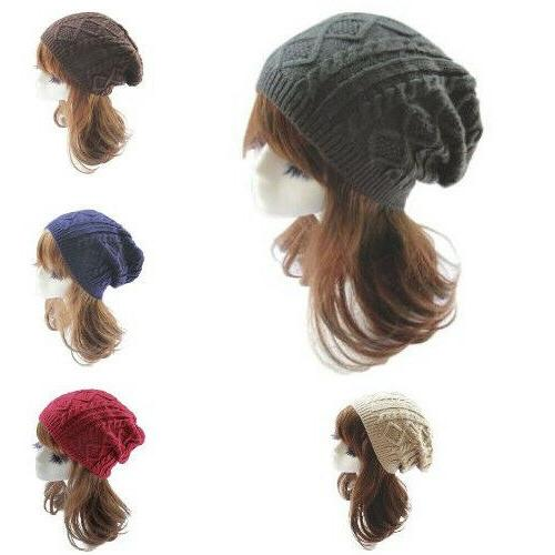 black summer womens knit slouchy beanie hats