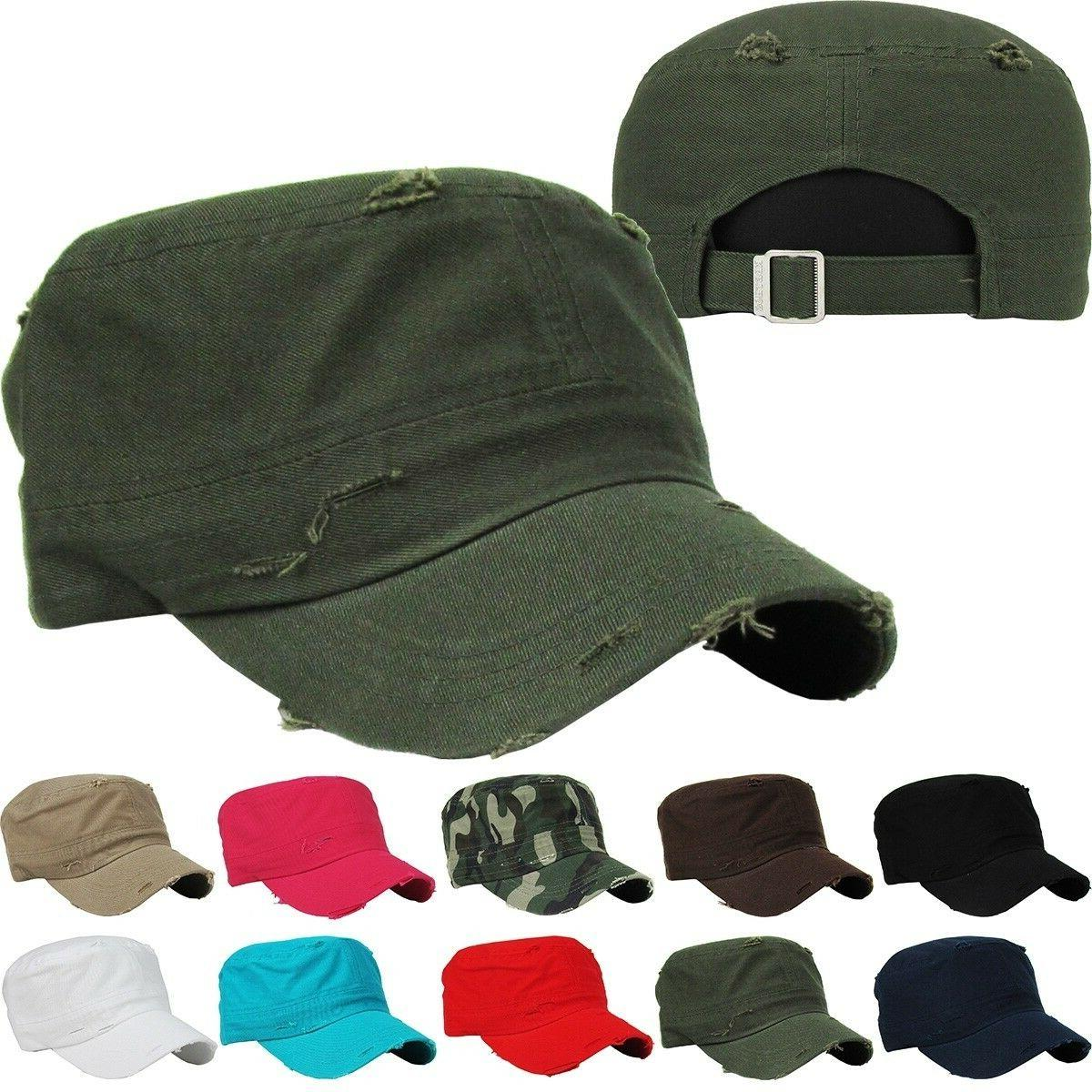 KBETHOS CADET DISTRESSED ADJUSTABLE CAPs HATs New Army Cotto