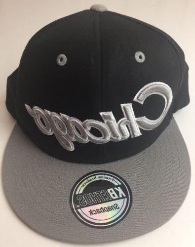 KBETHOS Chicago Snapback Black & Gray Hat