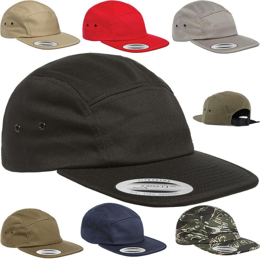 classic 7005 plain 5 panel strapback hats