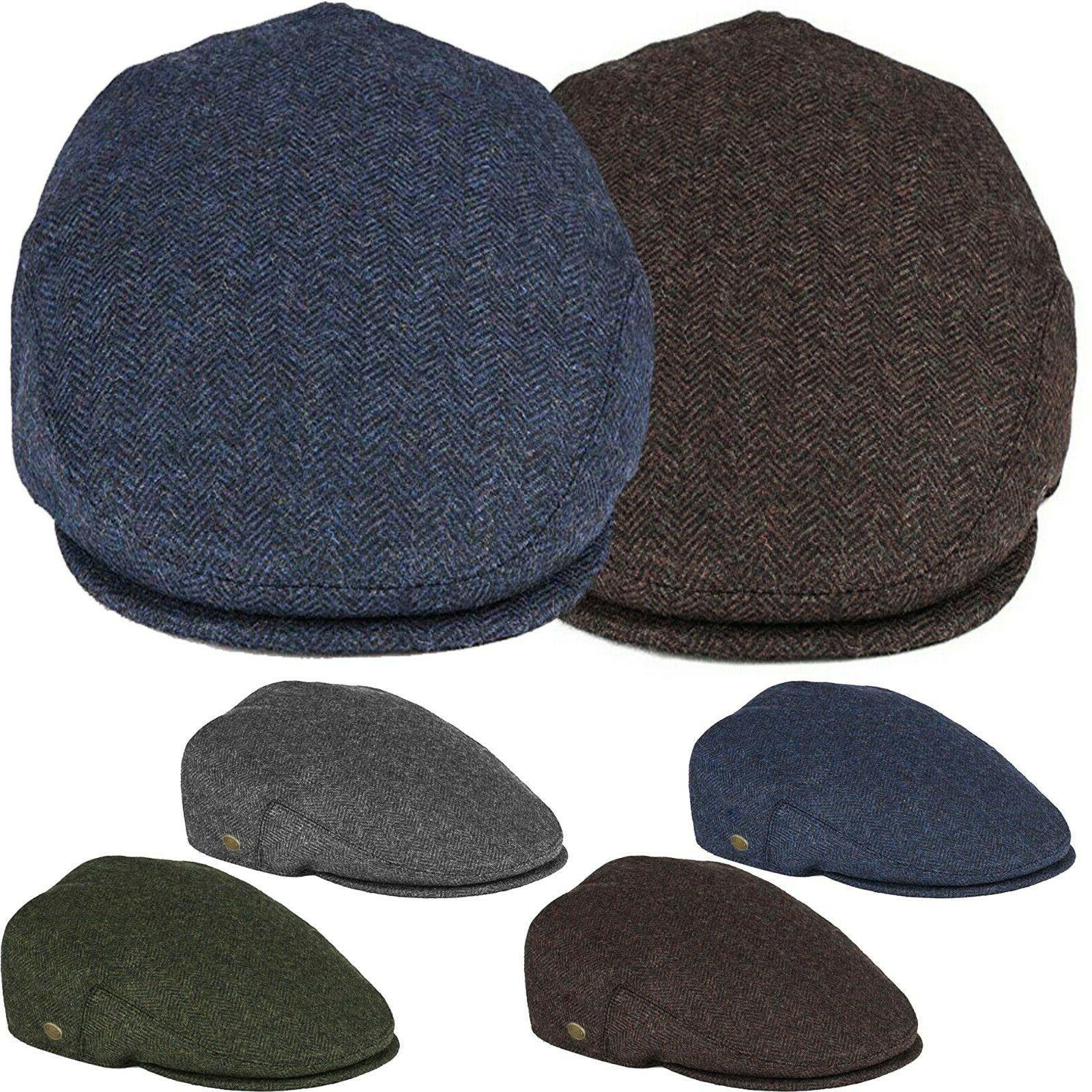 classic men s herringbone newsboy flat hat
