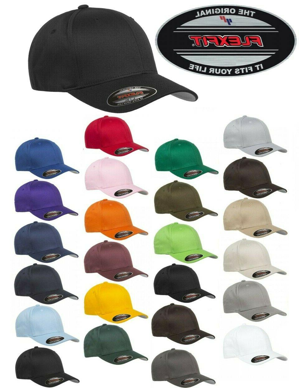 FLEXFIT Classic 6-Panel Fitted HAT S/M & All Colors!