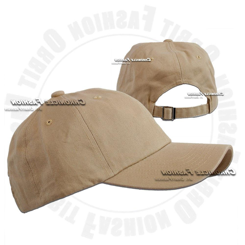 Cotton Baseball Cap Polo Style Adjustable Solid Dad