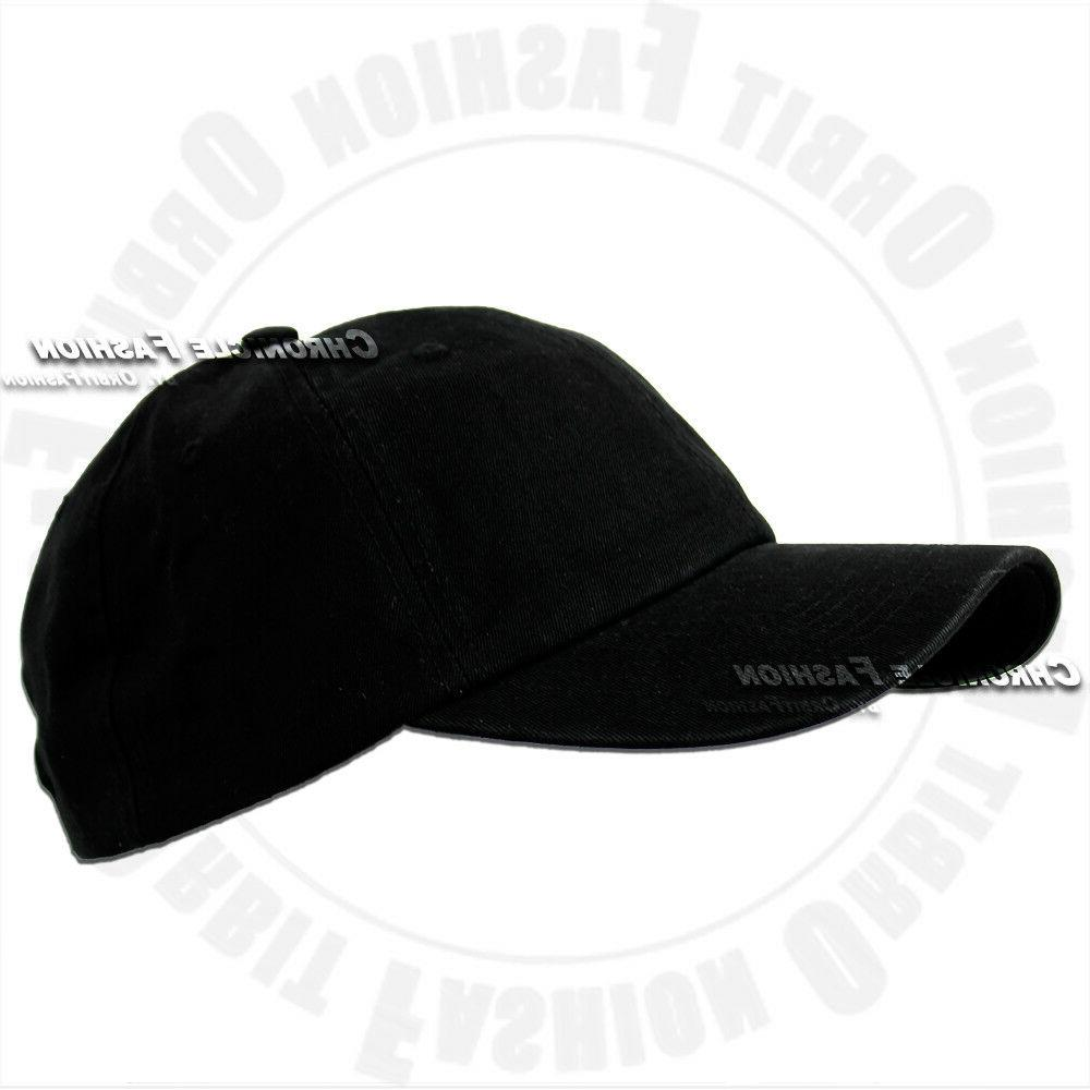 Baseball Hat Style Adjustable Solid Dad Hats