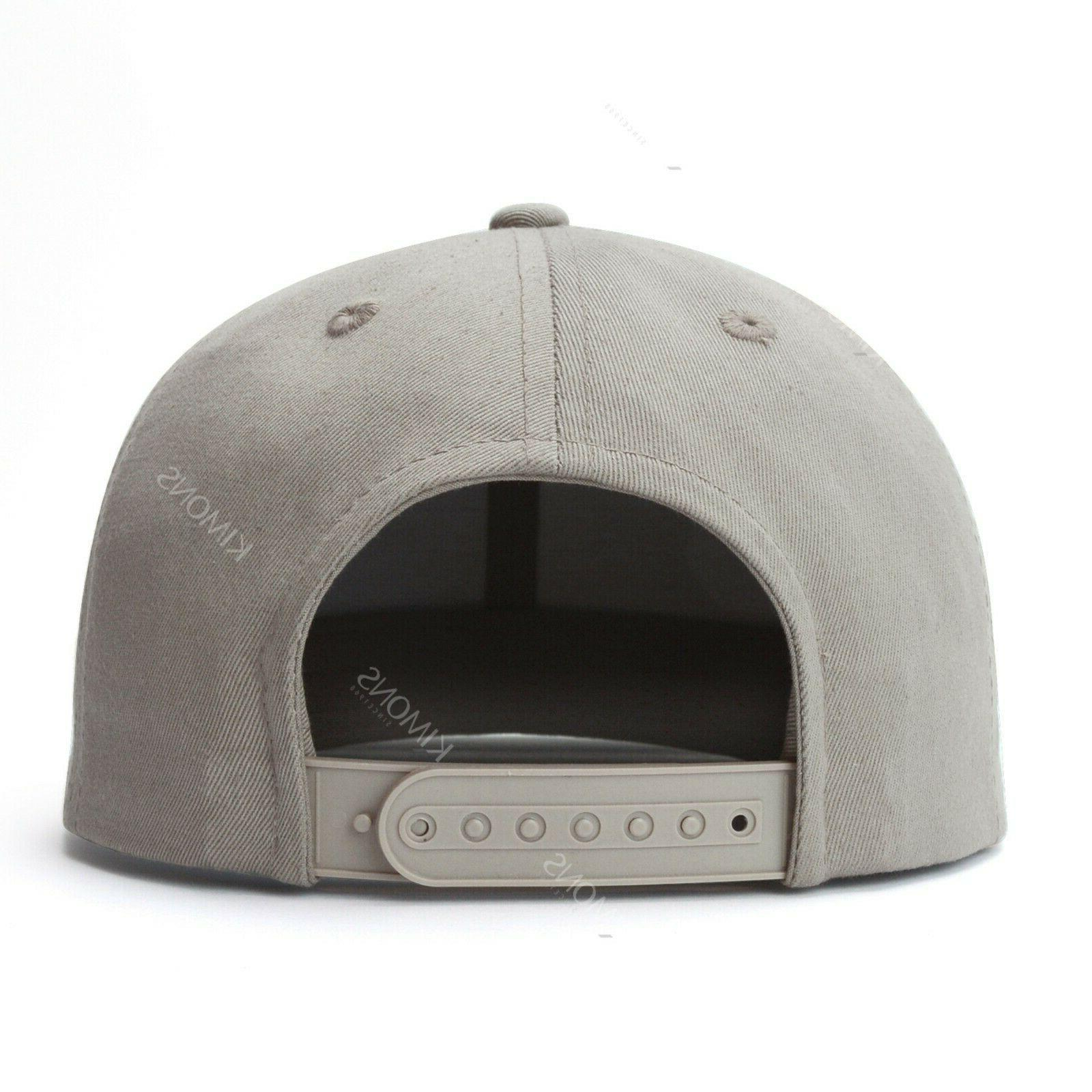 Snapback Hat Classic Hop Baseball Cap Solid Trucker Army