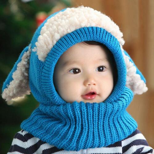 Cute Baby Toddler Boys Warm Beanie Hooded Cap